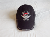 CROSSED CUTLASSES AND PIRATE SKULL EMBROIDERED  BASEBALL CAP